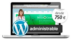 Diseño web administrable, diseño web con gestor de contenidos, diseño web wordpress
